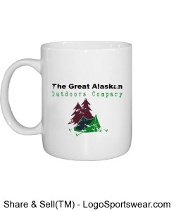 Great Alaskan Outdoors Company Field Crew Distressed Coffee Mug Design Zoom
